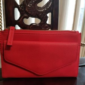 Express brand- coral colored, crossbody purse